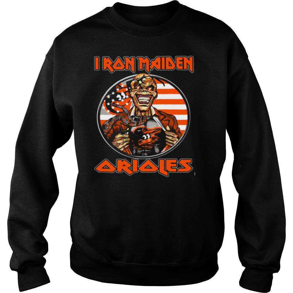Iron maiden baltimore orioles american flag independence day shirt