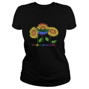 LGBT Sunflower it's ok to be different shirt