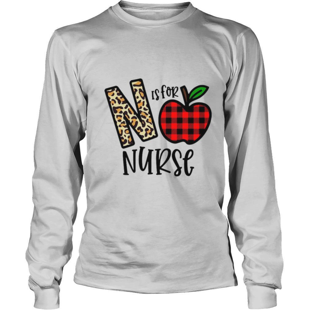 Apple N Leopard Is For Teacher Nurse shirt