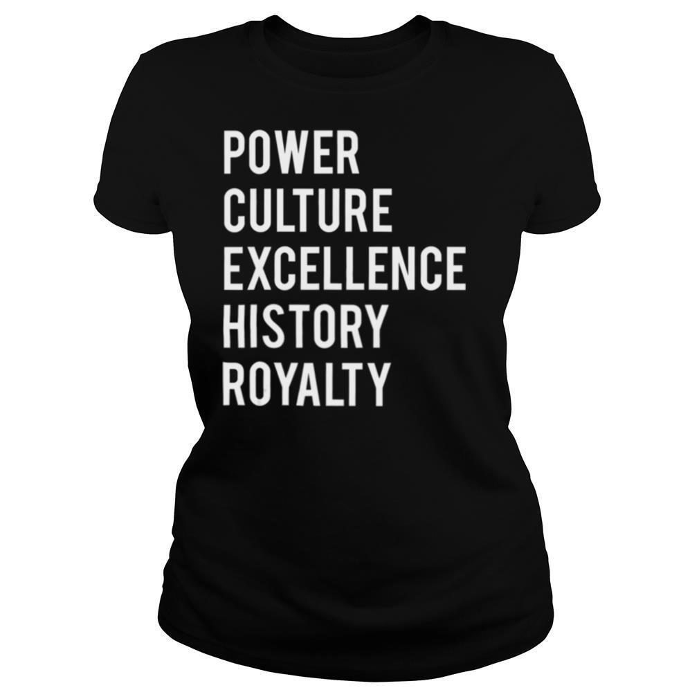 Black Power Black Culture Excellence History Royalty shirt