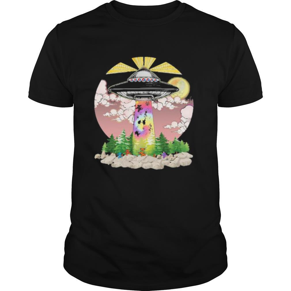 Grateful dead bears weed ufo lights shirt