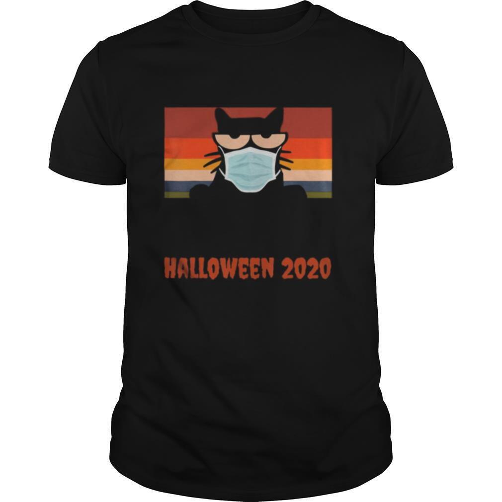 Halloween 2020, Funny Black Cat with Mask shirt