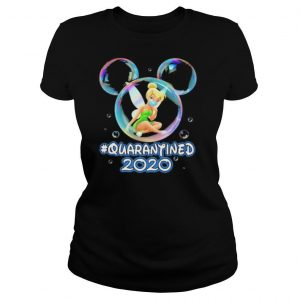 Mickey mouse tinker bell wear mask quarantined 2020 shirt