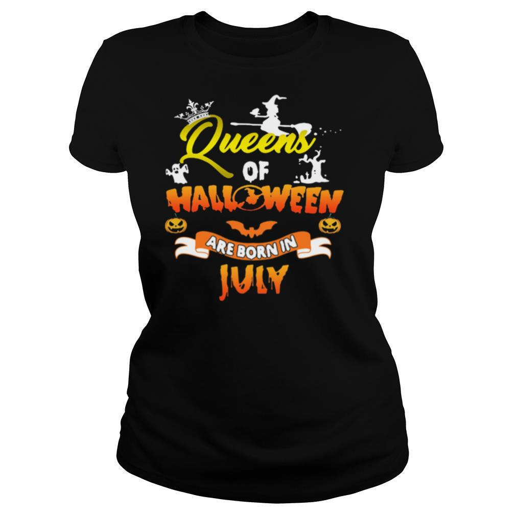 Queen Of Halloween Are Born In July shirt