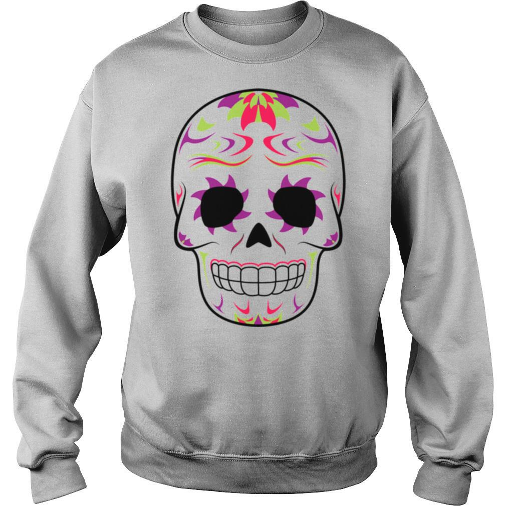 Skull Purple And Green Day Of Dead shirt