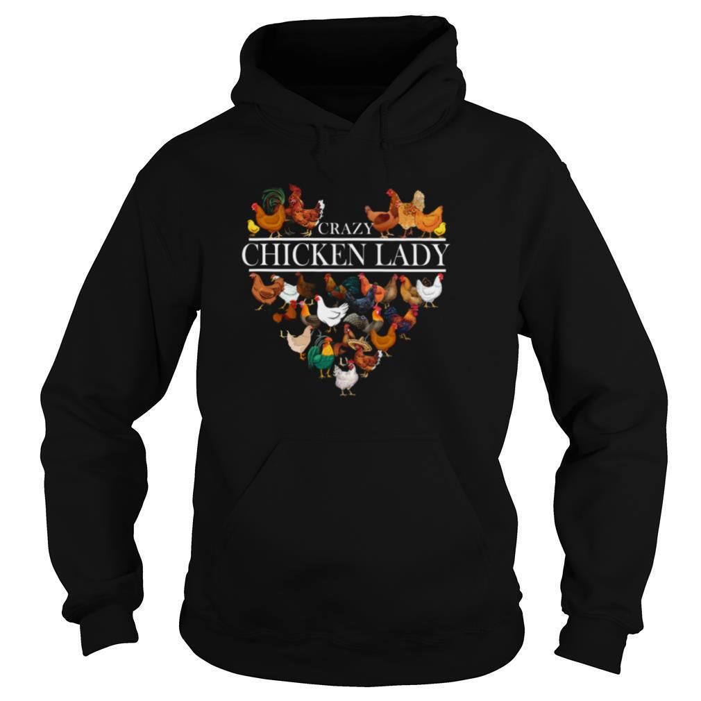 Crazy Chicken Lady Heart shirt