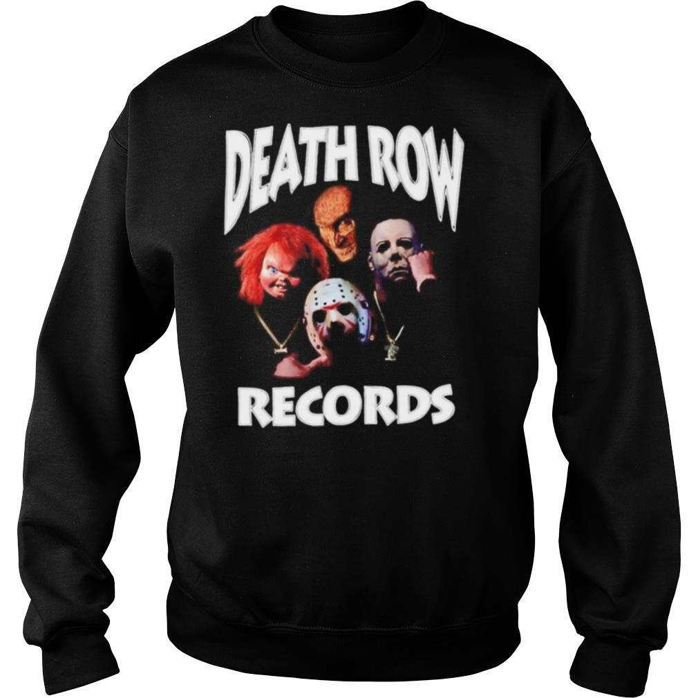 Horror movie characters death row records shirt
