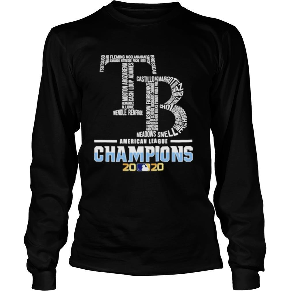 Tb Tampa Bay Rays American League Champions 2020 shirt