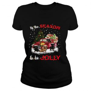 Dachshund It's The Season To Be Jolly Christmas Tree shirt
