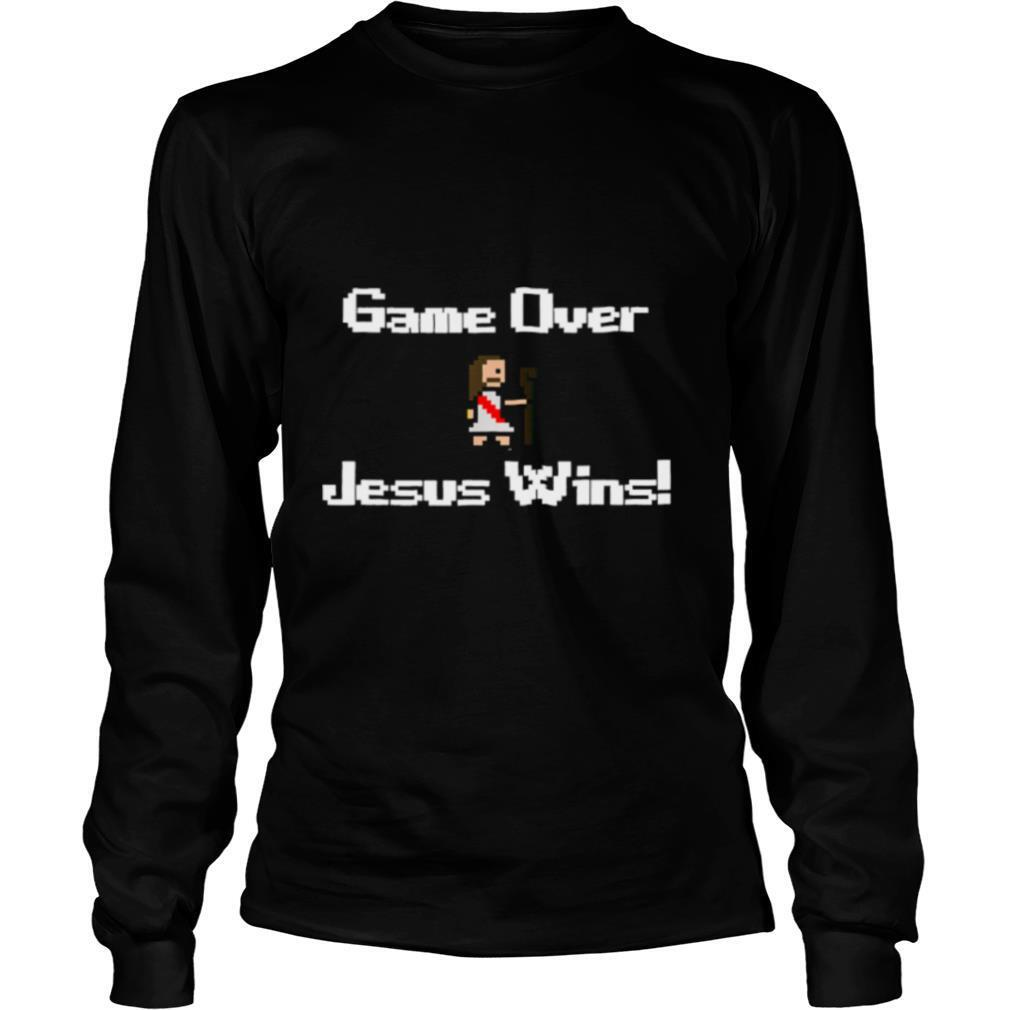 Game over Jesus wins gaming faith bible shirt