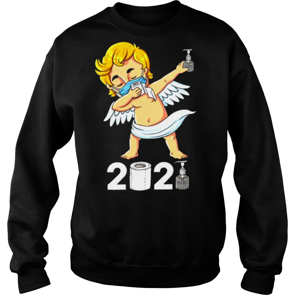Dabbing Cupid In A Mask Funny Valentines Day 2021 Dab shirt