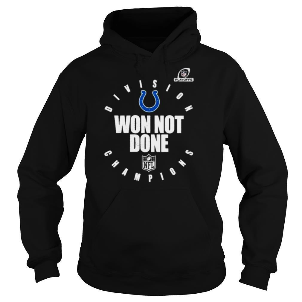indianapolis colts 2020 afc south division champions won not done shirt