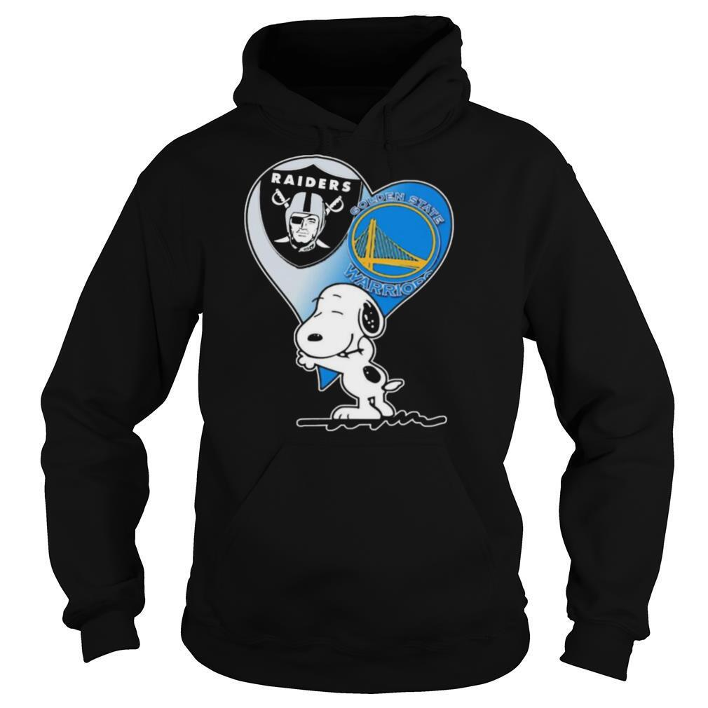 Spoony Heart Oakland Raiders and Golden State Warriors shirt
