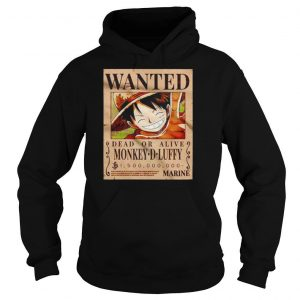 Luffy Wanted dead or alive monkey D Luffy shirt