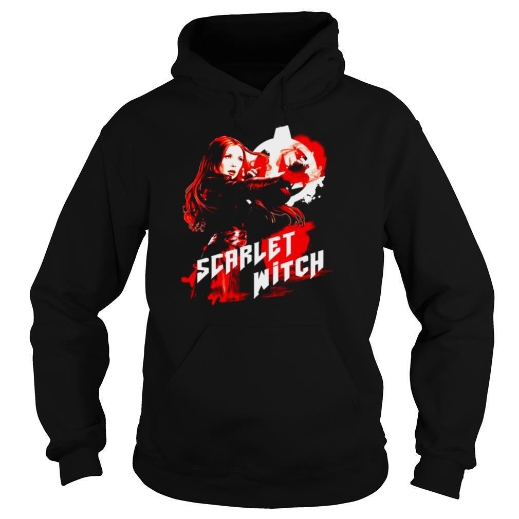 Marvel Infinity War Scarlet Witch Red Splat Graphic shirt