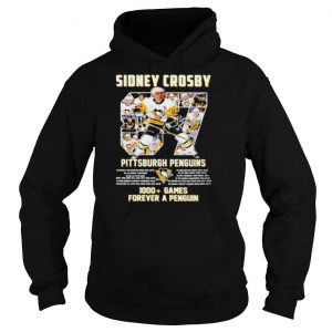 Sidney Crosby Pittsburgh Penguins 1000+ Games forever a penguin signature shirt