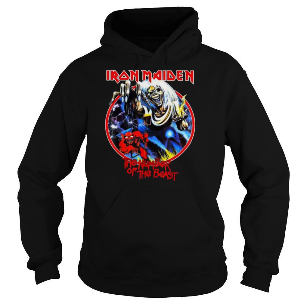 Iron Maiden The Numbers Of Beastes skull T Shirt